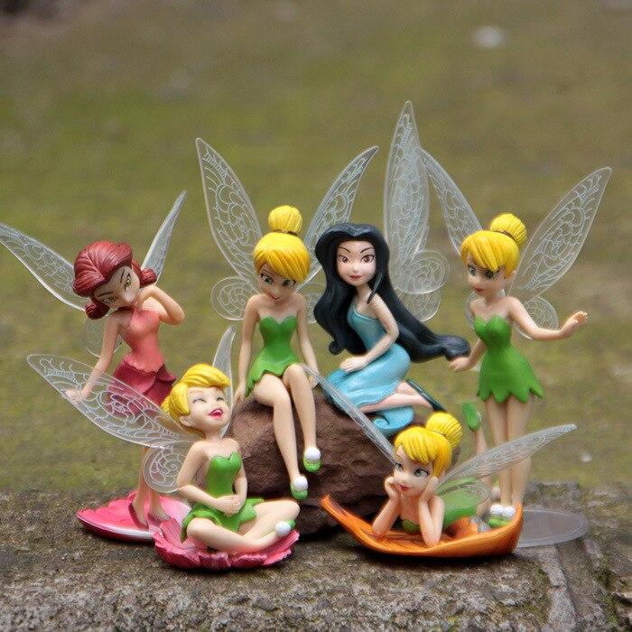 Kawaii 2sets/lotu003d12pcs Resin 6 Models Fairy Garden Miniatures Princess  Crafts Miniature Fairy