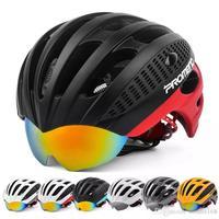 Hot Sale Cycling Goggles Helmet Ultralight Integrally molded Bicycle Helmet 2 Lens MTB Bike Helmet 27 Vents 285g Casco Ciclismo