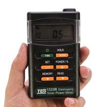 TES-1333R регистратор солнечной энергии измеритель солнечного излучения метр тестер RS 232 интерфейс Tes1333r