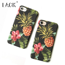 LACK Phone Case For iphone 6 6S Plus Tropic Plants Flowers Leaf Cases Lovely Cartoon Fruit Pineapple Back Cover Colorful Funda