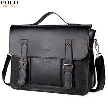 4d8ab4890b5c VICUNA POLO Promotion Brand Cover Open Mens Leather Handbag Vintage Casual  Messenger Bag Men Leather Laptop Bags bolsa masculina