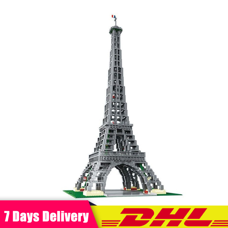 IN Stock DHL Lepin 17002 3478Pcs Paris Eiffel Tower Model Building Kits Blocks Bricks Compatible LegoINGlys 10181 Toys for Kids