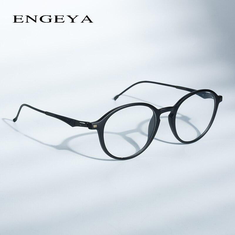 ENGEYA 2017 Round TR90 Eyewear Frames Women Men Computer Myopia Super Light Prescription Optical Glasses Frame High Quality 2100