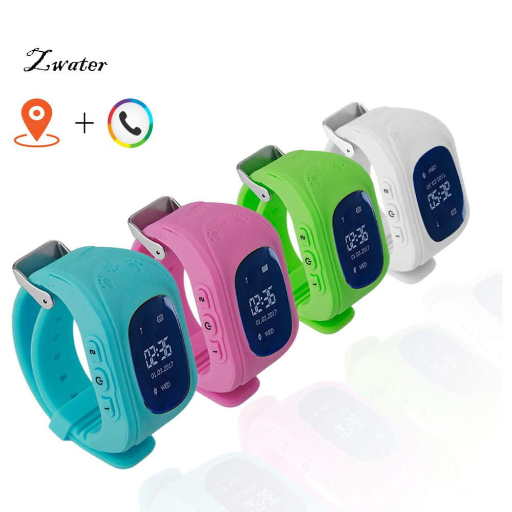 Zwater Smart watch SOS Call Q50 Kids Watches GPS Track Watch Location Tracker Smart Watch for children