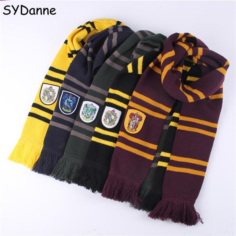 SYDanne 10 PCS / Lot Harri Potter Scarf Ties Cosplay Costumes Gryffindor Slytherin Hufflepuff Ravenclaw Necktie Hermione Granger