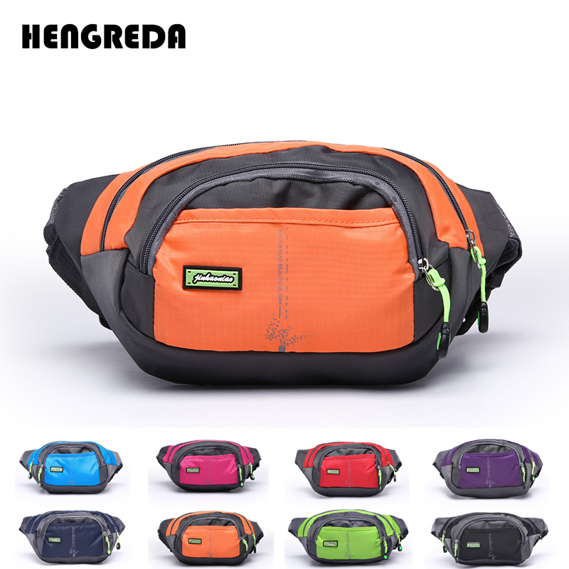 Women Fanny Pack 2018 Waist Bag Men Oxford Bum Bag Hengreda Lightweight Hip Bag Sling Bag with 3 Zipper Pockets for Travel(China)