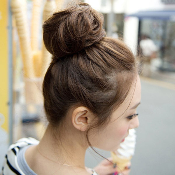 Wishfake Hair Bun Clip Chignon Hair Styling Synthetic Hairpiece