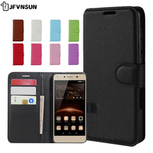 For Huawei Y5 II Case on Huawei Honor 5A LYO-L21 Case 5.0 inch Magnetic Wallet Leather Book Case for Huawei Honor 5A Y5 II Cover