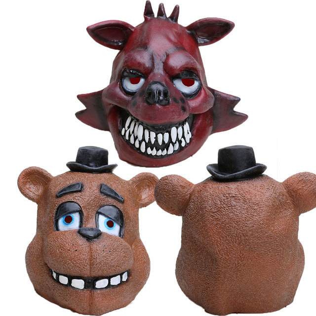 FNAF Five Nights At Freddy s Chica foxy Full Animal Latex Mask Latex     FNAF Five Nights At Freddy s Chica foxy Full Animal Latex Mask Latex five  nights at freddys