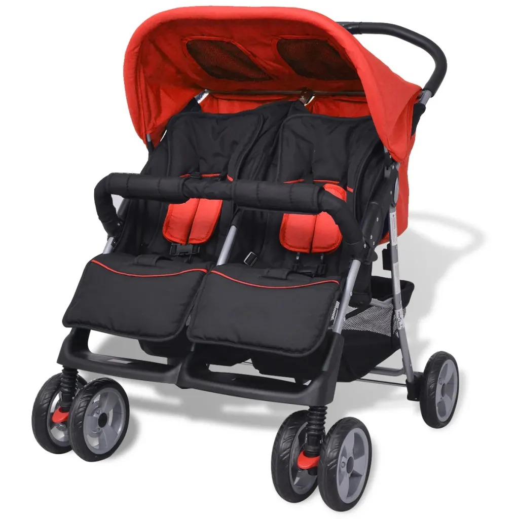 VidaXL Twins Baby Stroller Ultra-Light Folding Umbrella Stroller Travel Double Strollers Brand Can Be On Plane Car