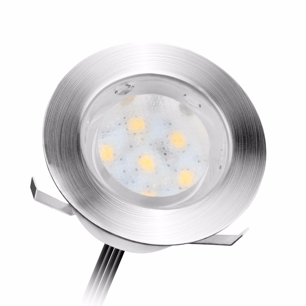 Lámparas de cubierta LED de acero inoxidable 1W DC12V LED IP67 SMD2835 Iluminación LED para patio Decoración de patio Luz de superficie montada Inserción