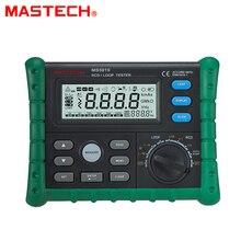 MASTECH MS5910 RCD/Loop Resistance Tester Circuit Trip out Huidige/Tijd Detector met USB Interface