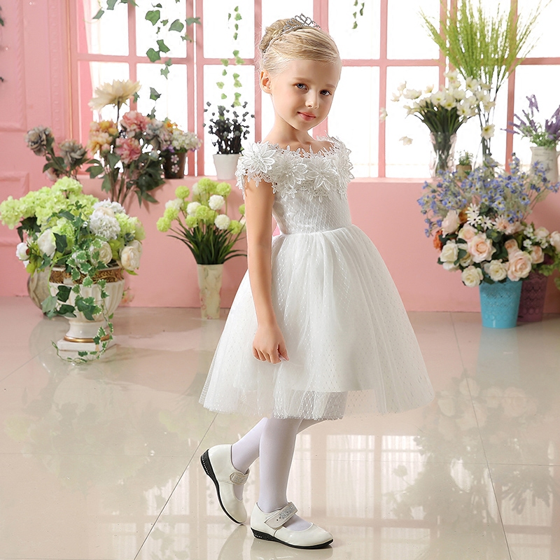 kids girls dresses new fashion princess tutu dress knee-length ball gown flowers girl dress for wedding birthday costume цены онлайн