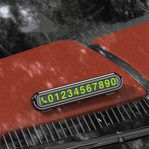Image 2 - Auto di Parcheggio temporaneo con Aromaterapia Numero di Telefono Carta di Luce di Notte Car Styling Numero di Telefono Card Nascosta Numero di Targa