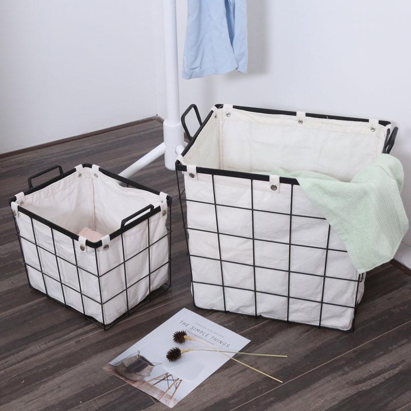INS Scandinavian Nordic ijzeren kunst opbergmand Japanse ZAKKA vuile - Home opslag en organisatie