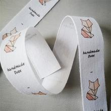 2cm white soft cotton belt/tape Custom clothes/Clothing dress labels/Tags, Name Tags, Handmade labels print black special offer