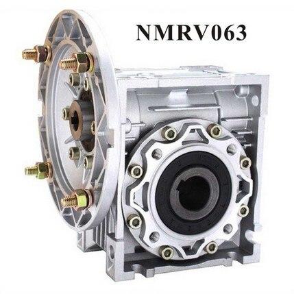 NMRV063 Worm Reducer 14mm 19mm 24mm input shaft 7.5:1 - 100 :1 Gear Ratio Worm Gearbox 90 Degree Speed Reducer nmrv090 worm reducer 7 5 1 10 1 15 1 gear ratio worm gearbox 19mm 24mm 28mm input shaft 90 degree speed reducer rv090