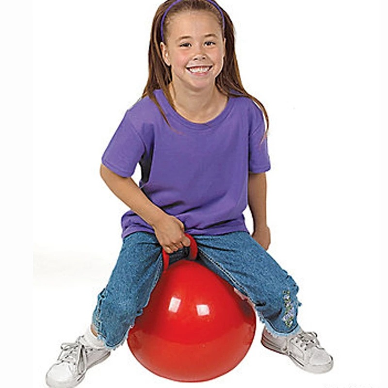 55cm Thickening Jumping Ball Bouncing Balls Environmental PVC Handle Ball Children Inflatable Toy Ball Health Care Gift