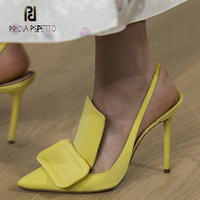 Prova Perfetto newest elegant lady pointed toe stiletto high heels shoes women pumps slingback gladiator sandals runway shoes