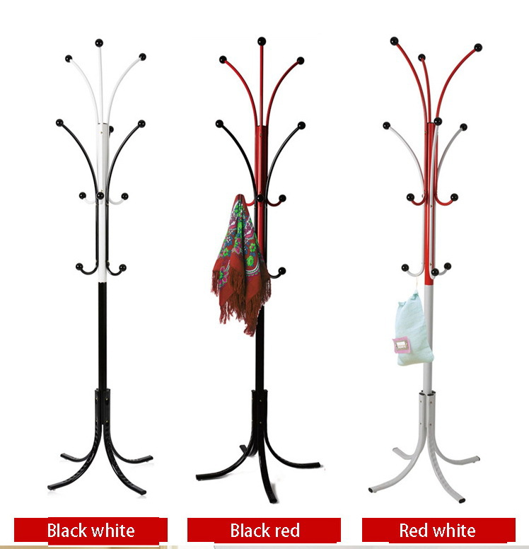 Two Color Fashion Metal Coathat Rack Cheap Metal Coat Stand