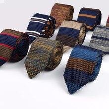Новые Вязаные Галстуки для отдыха, треугольные полосатые галстуки, нормальные острые галстуки с угловым вырезом, мужские классические тканые дизайнерские Галстуки