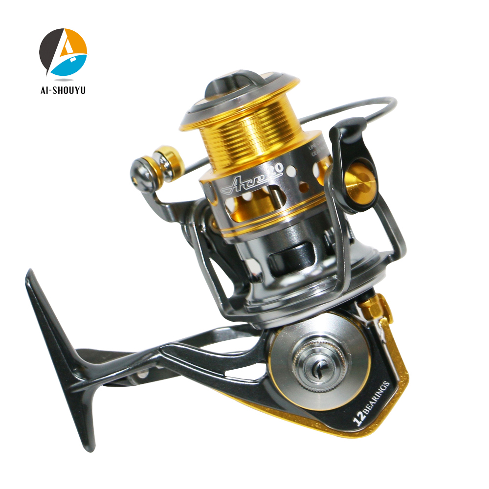 AI SHOUYU Spinning Fishing Reel 5 1 1 Full Metal Fishing Reel Max Drag 6kg 2000