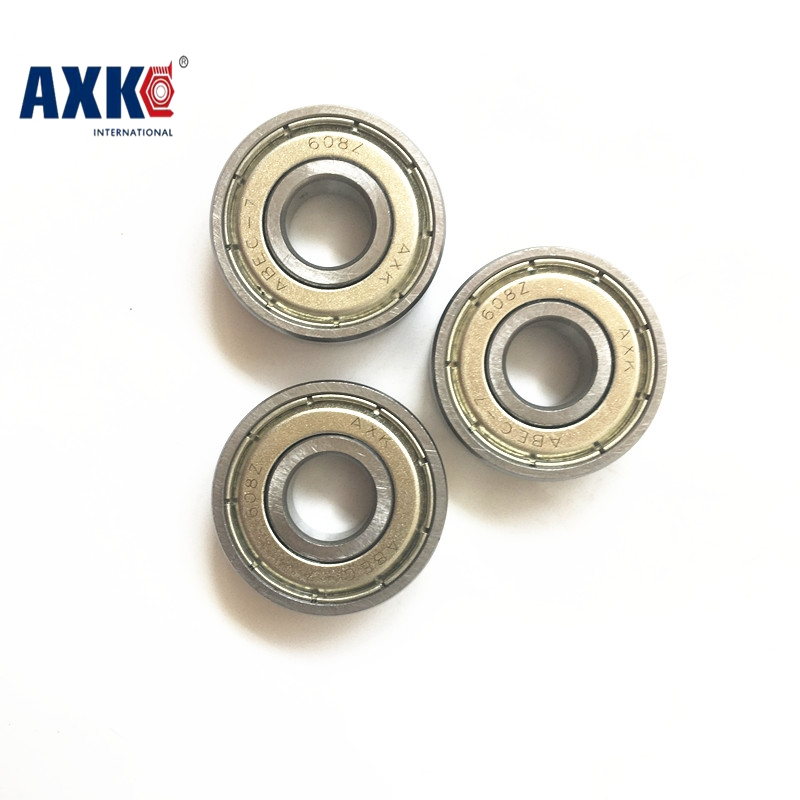 Double Shielded Miniature Grc15 Steel Single Row 608ZZ ABEC-7 Deep Groove Ball Bearing 8*22*7 8x22x7 mm 608 ZZ 2Z 100pcs double shielded miniature gcr15 steel single row 623zz p0 zv1 abec 1 z2 deep groove ball bearing 3 10 4 3x10x4 623 zz 2z