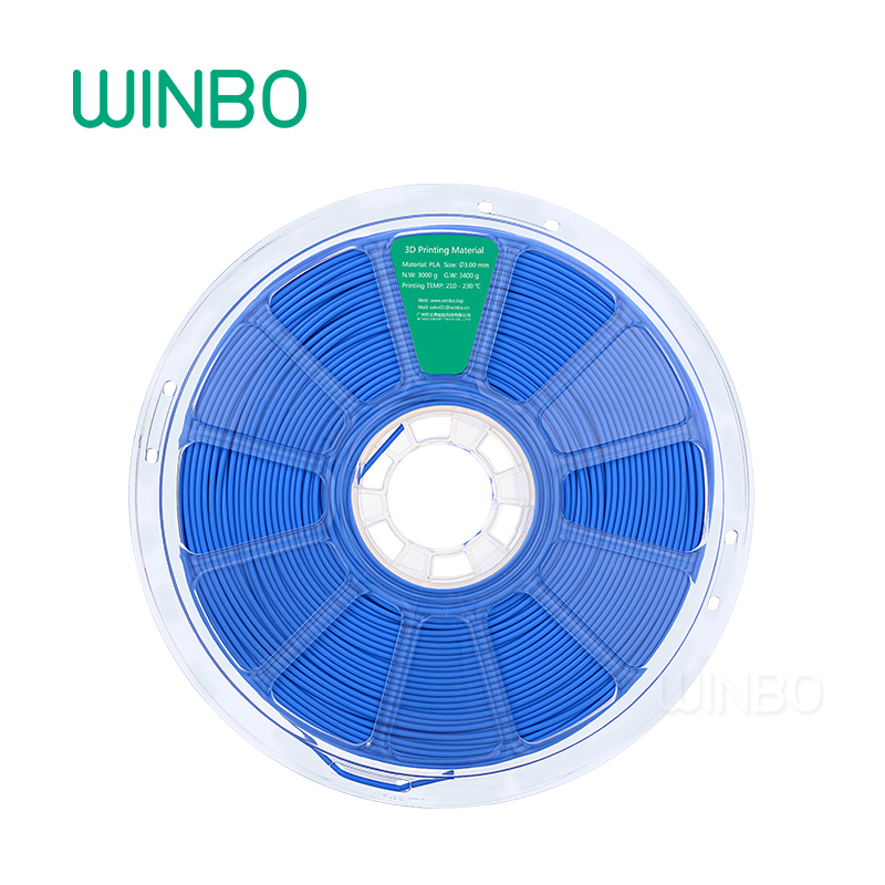 3D Printer PLA filament 3mm 3kg Dark Blue Winbo 3D plastic filament Eco-friendly Food grade 3D printing material Free Shipping 1 75mm pla 3d printer filament printing refills 10m