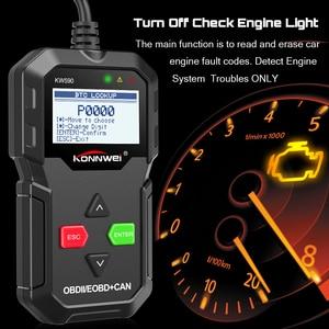 Image 4 - KONNWEI – KW590 meilleur Scanner de Diagnostic de voiture, lecteur de Code OBD2, multilingue, russe, meilleur que AD310