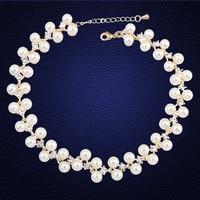 Bohemian Style Hiroshima Mon Amour Choker Necklace Collier Femme Women Handmade Rhinestone Pearl Necklaces Pendants Jewelry