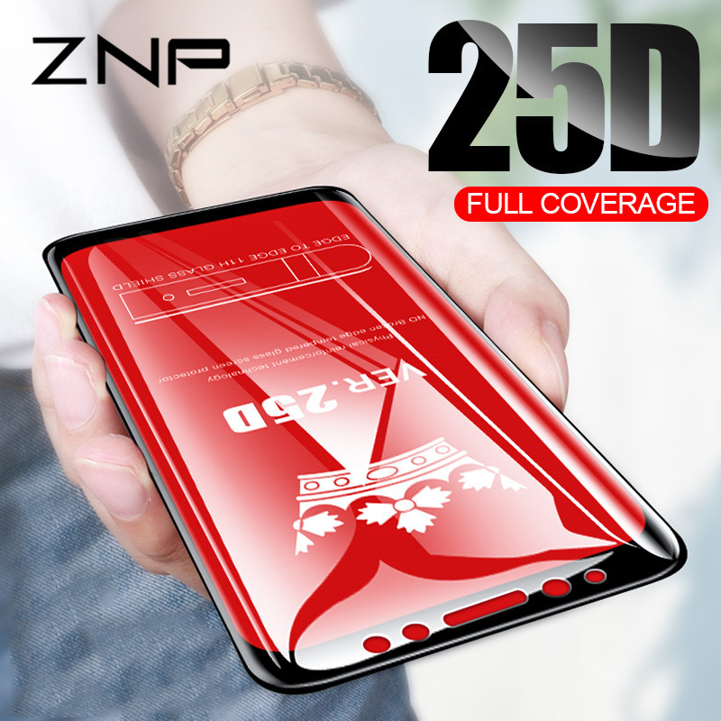 ZNP 25D Protective <font><b>Glass</b></font> For <font><b>Samsung</b></font> Galaxy A3 A5 A7 <font><b>J3</b></font> J5 <font><b>2017</b></font> <font><b>Tempered</b></font> <font><b>Glass</b></font> For J4 J6 A8 A6 Plus 2018 Screen protector film image