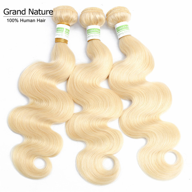613 Blonde body wave Hair Bundles 100% peruvian human Hair Extensions 1/3/4 Bundles 10 to 24 Inches Remy hair weaves