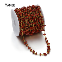 5 Meters Red Jaspers Turquoise Beads Irregul Stone 5 10mm Bohemia Beads Hot Sale Chain Necklace
