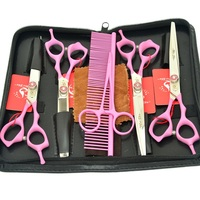 7.0 Meisha High Quality Pet Scissors Kits 440c Japanese Steel Dogs Grooming Cutting Shears Thinning Clipper Pet Supplier HB0079