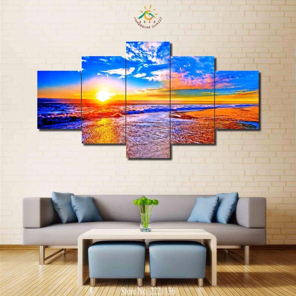 3-4-5 панелей/комплект океан огня облако Современный домашний декор стены холст Picture Книги по искусству HD печати живопись на холсте для Гостин...
