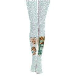 شبكة صيد السمك النساء الجوارب عرض خاص جوارب الأوساط Pantis امرأة جديد جوارب طويلة الرجعية الرعوية نمط الملاك فتاة المطبوعة الإناث