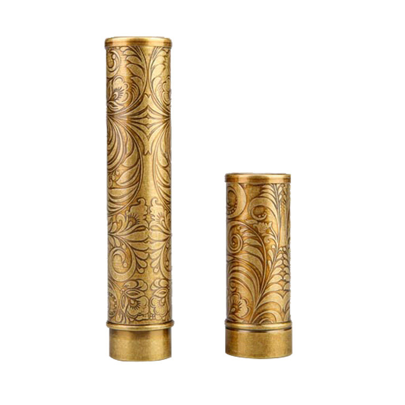 Yooap Brass Travel Cigars Box Cigarettes Case Single Cigar Case Holder Tube High Quality Metal Cigar Accessories Gifts for Men in Cigar Accessories from Home Garden