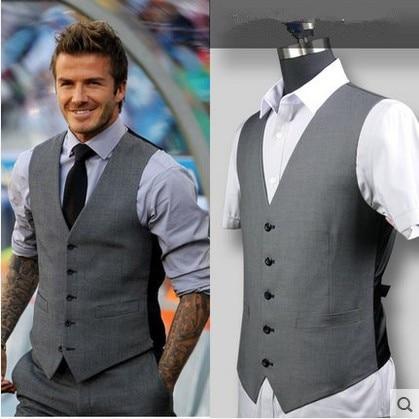 Male Vest Jacket Royal Black Gray Waistcoat Night Stage Man Singer