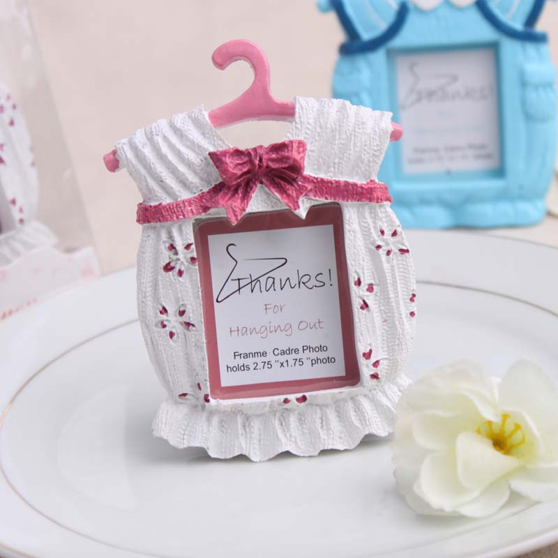 cute baby boy baby girl cloth frame baby shower birthday party place card picture photo holder gift favour