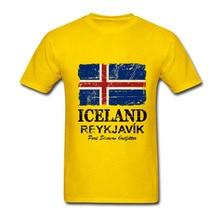 476a480abd6 2018 Newest Men Tee Shirts Short Sleeve Iceland Flag Graphic T-shirt Round  Collar Hot