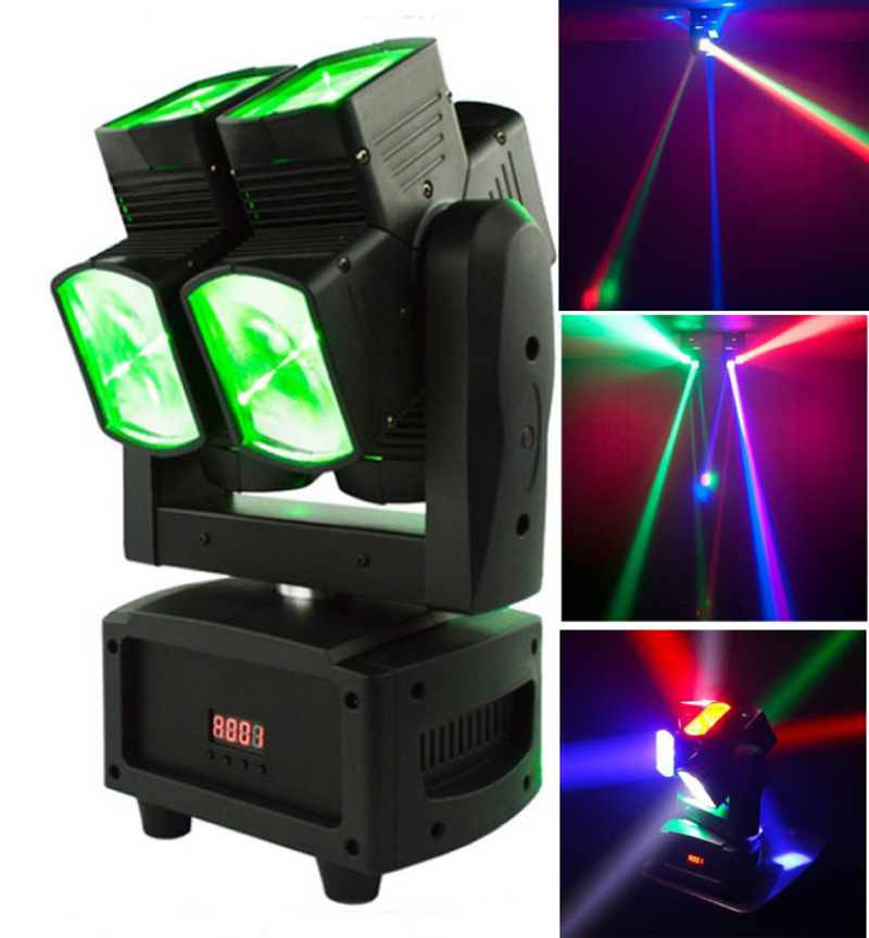 Compact Dual Axis Moving Head Beam Light 8x12W RGBW 4in1 unique Beam moving heads for Stage Disco DJ Party Wedding Bar Nightclub