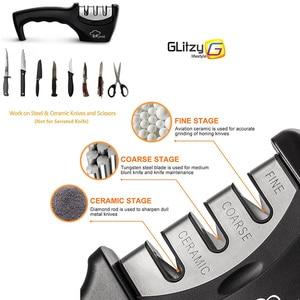 Image 2 - Messenslijper 3 Stadia Professionele Tungsten Diamond Keramische Keuken Slijpsteen Messen Grinder Whetstone Keuken Tool