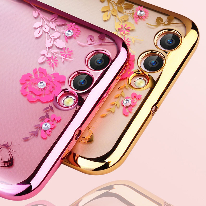 Galleria fotografica Luxury Soft TPU Plating silicone Case For Huawei Honor 9 Lite Clear Transparent for Huawei Honor9 Lite case flower cover phone