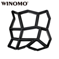 WINOMO Plastic DIY Path Maker Mold Manually Paving Cement Brick Molds for Garden Decoration