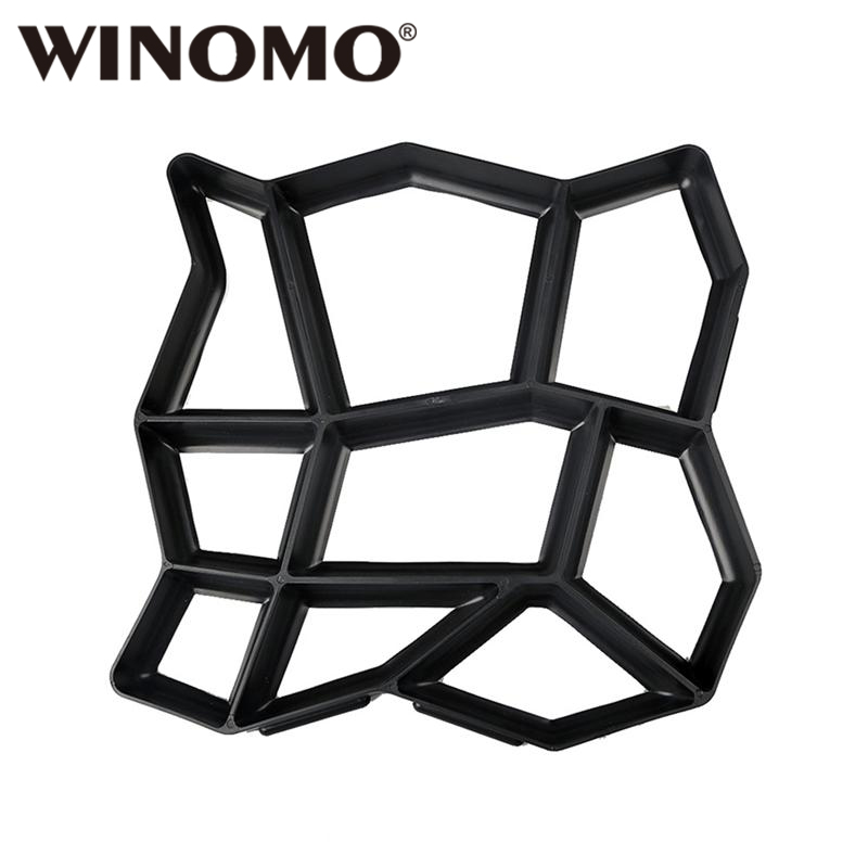 Paving Molds Winomo Plastic Diy Path Maker Mold Manually Paving Cement Brick Molds For Garden Decoration Supplement The Vital Energy And Nourish Yin Home & Garden