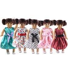 Bow robe plus de styles à choisir pour 18 pouces poupée fille américaine, enfants le meilleur cadeau de Noël