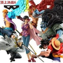 NEW hot 8-16cm One piece luffy Jinbe Marco Doflamingo Smoker Action figure toys doll collection Christmas gift with box