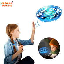 Global Drone Mini Drone UFO Hand Operated Infrared Induction Aircraft Flying Ball Toys For Kids RC Helicopter Quadrocopter Dron(China)