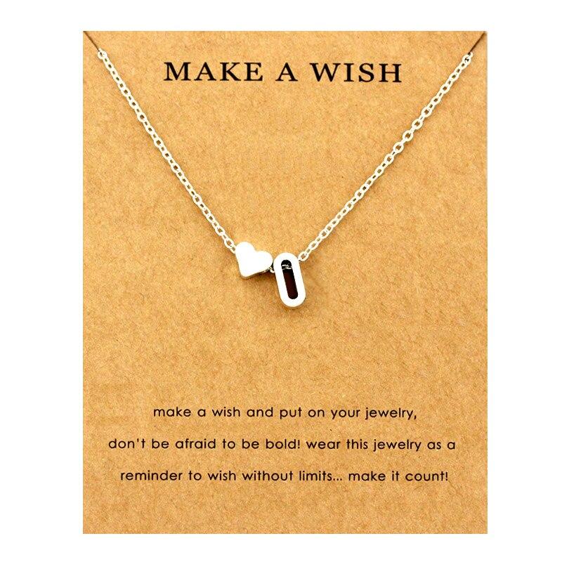 Сердце начальные Подвески ожерелье s персонализированное ожерелье с буквами Имя ювелирные изделия для женщин мужчин аксессуары подруги любовника пара подарок - Окраска металла: NE1669