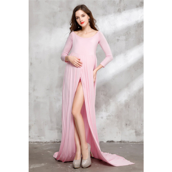 Women Maxi Skirt Maternity Photography Props Chiffon Gown Pregnancy Dresses For pregnant Photo Shoot Clothing s m l xl maternity dress for photo shoot maxi maternity gown split front maternity chiffon gown sexy maternity photography props